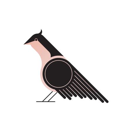 Abstract geometric bird, vector illustration