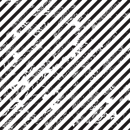 Black and white diagonal stripe background, grunge design, seamless pattern, vector illustration