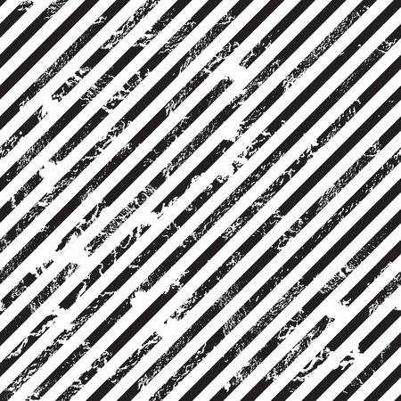 Black and white diagonal stripe background, grunge design, seamless pattern, vector illustration