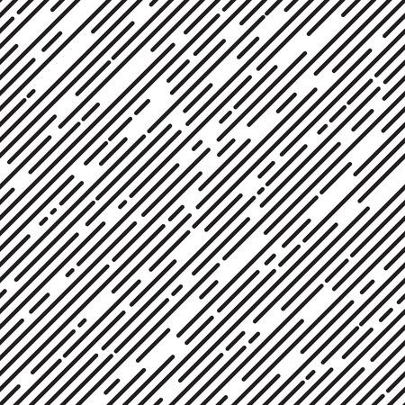Black and white diagonal stripe background, line design, seamless pattern, vector illustration