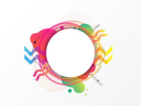 Colorful geometric element, abstract background, vector illustration, circle design Ilustração