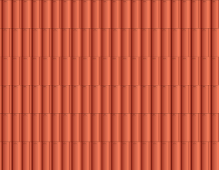 Traditional ceramic roof tiles, seamless pattern. Vector illustration