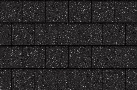 Bardeaux de toit d'asphalte, modèle sans couture. Carrés, illustration vectorielle