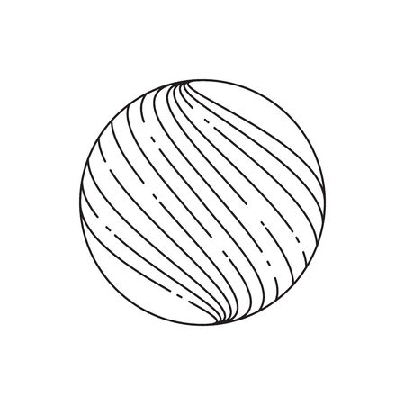 Abstract sphere icon, half tone. Line design. Vector Illustration Illustration