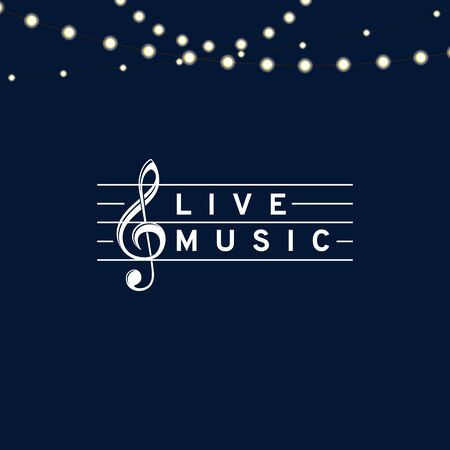 Live music lyrics with violin clef. Vector Illustration Keywords: Illustration