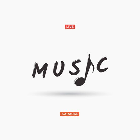 Music sign with note. Vector Illustration Categories: