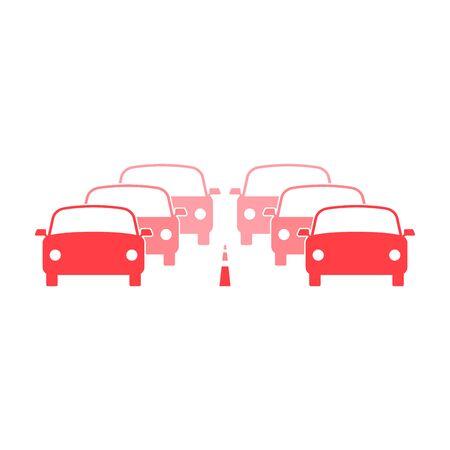 Traffic jam icon, illustration Ilustração