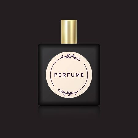 Black perfume bottle 矢量图像