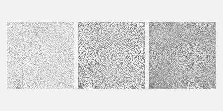 Square made from dots. Set of different design elements. Black and white, Vector illustration EPS 10 Illustration