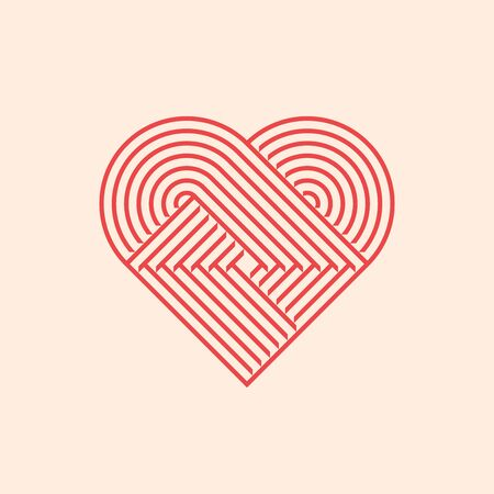Heart symbol. Simple geometric icon. Vector illustration
