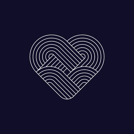 Abstract heart icon. Line design, editable strokes. Logo design element. Vector illustration Illustration