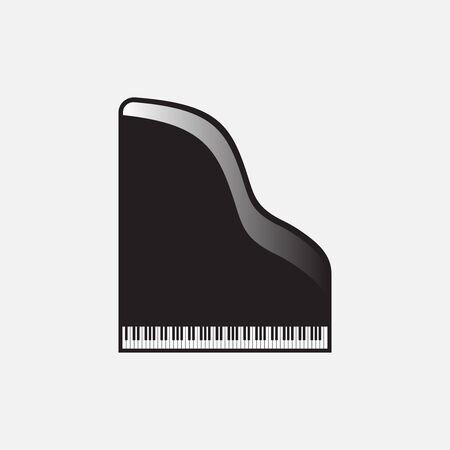 Grand piano icon. Top view with music keyboard. Vector illustration EPS 10 Illustration
