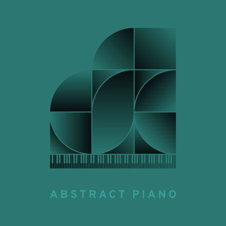 Abstract piano. Vector illustration