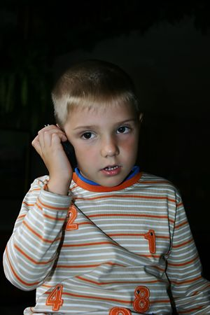 boy and a mobile phone Stock Photo - 261141