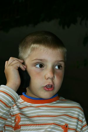boy and a mobile phone Stock Photo - 261142