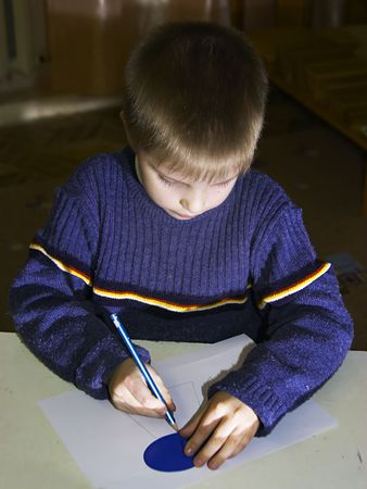 drawing schoolboy Stock Photo - 291749