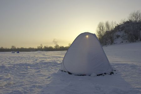 Winter day - fishers tent photo