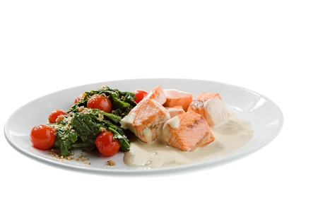 fresh food isolated on the white background photo