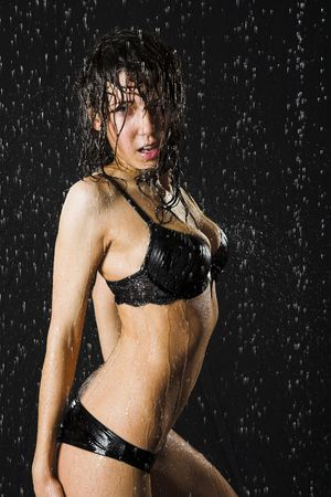 Young sexy woman. Water studio photo. Stock Photo - 7968595