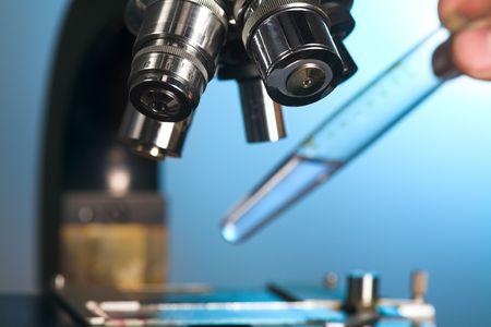 close up photo of a microscope Stok Fotoğraf