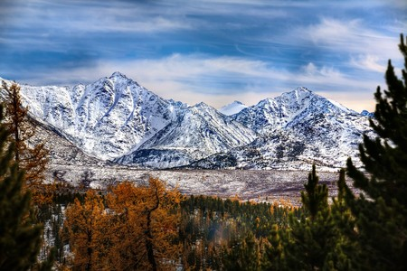 autumn in the high mountains photo