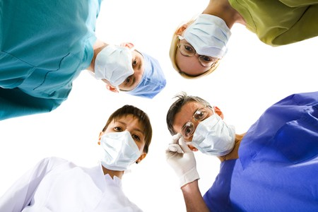 young successful medical team on the white Stok Fotoğraf