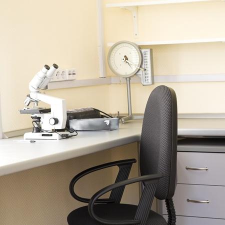 balanza de laboratorio: interior moderno de laboratoratory biol�gica en el centro de investigaci�n Foto de archivo