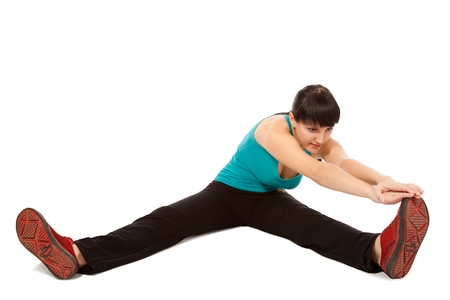beauty woman working out on white background Stock Photo - 8460736