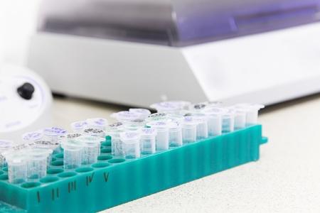 microbiologia: lugar de trabajo de laboratorio para la investigaci�n de biotecnolog�a. Analizar el ADN