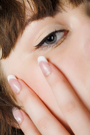 close up portrait of young beauty woman Stock Photo - 8696830