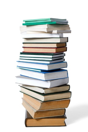 pile of old books isolated on white Stock Photo - 8773003