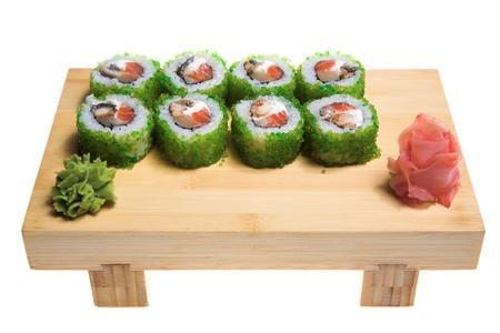 appetizing suhi isolated on the white backgrouund