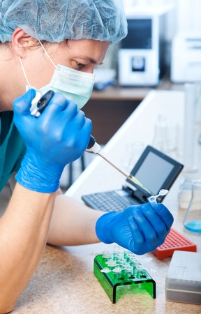 workplace modern laboratory for molecular biology test Stock Photo