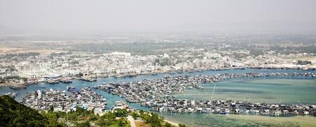 ostracean: Aerial view on the tropical sea farm