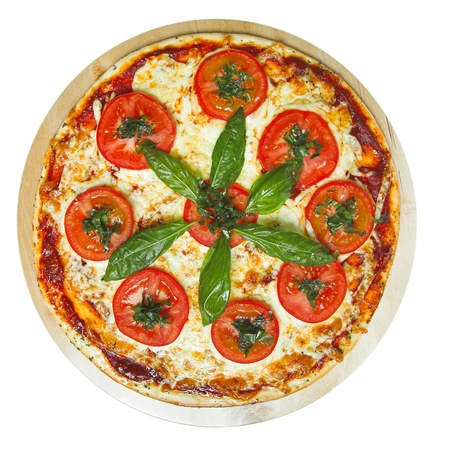 margarita pizza: pizza margarita isolated on the white background