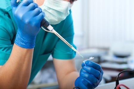 workplace modern laboratory for molecular biology test Фото со стока