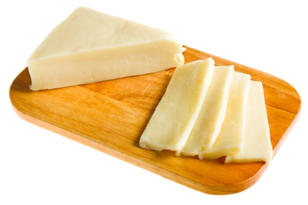 varied cheese isolated on white photo