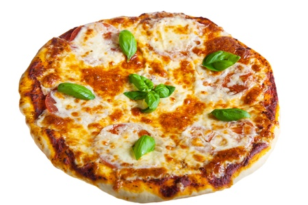 fresh pizza isolated on the white background Stock Photo - 13762388