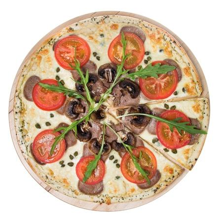 fresh pizza isolated on white Stock Photo - 14554001