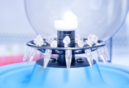 centrifuge: small plastick tube in centrifuge