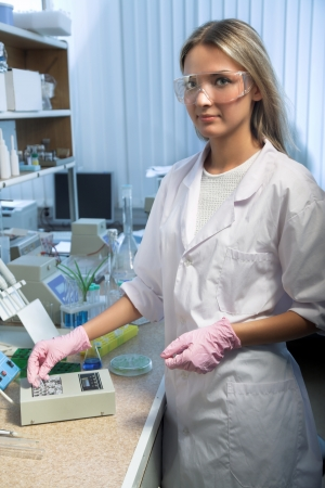 beauty scientist in modern laboratory photo