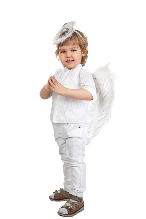 little angel isolated on white background photo