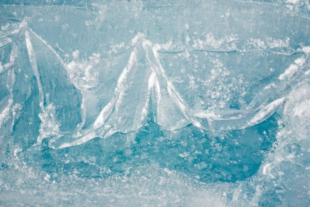 closeup texture of Baikal ice photo