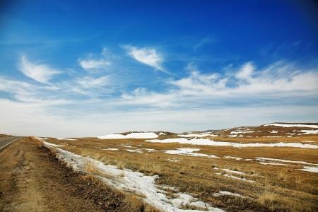 winter landscape baikal lake's shore Stock Photo - 18000674