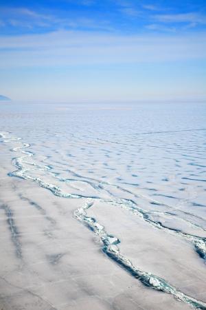 frozen baikal lake in winter Stock Photo - 18000647