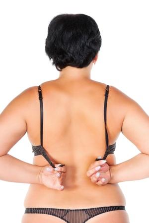 mujer gorda: mujer gorda aislado en blanco