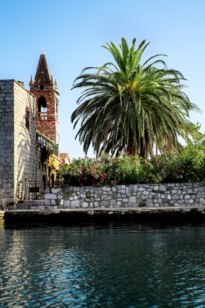 Montenegro in the ancient town of Perast photo