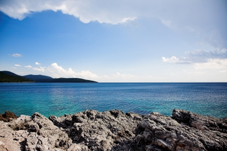 Fragment of beach in Montenegro. photo