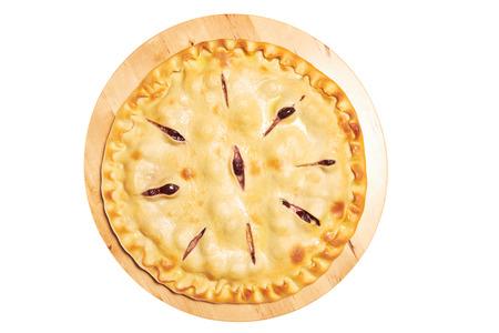 Pie isolated on white Stock Photo