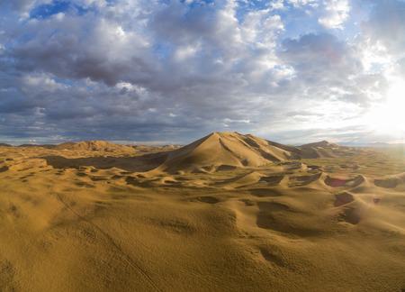 Gobi desert sand dunes. Mongolia, Asia